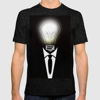 Lightning Thoughts Mens Fitted Tee Tri-Black SMALL
