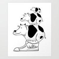 cow baby Art Print