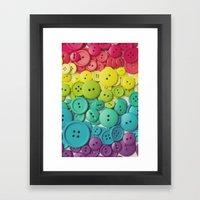 Cute as a button Framed Art Print