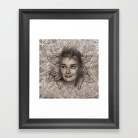 Audrey Hepburn Dot Work … Framed Art Print
