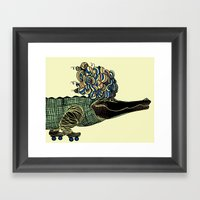 Croc Framed Art Print