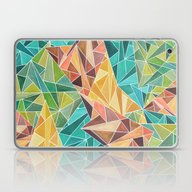 Fall Into Triangles Laptop & iPad Skin