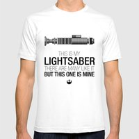 This is my Lightsaber (Luke Version) Mens Fitted Tee White SMALL