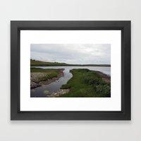 The Loch of Vatsetter Framed Art Print