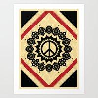 Peace Mandala Art Print