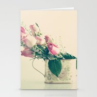 Shabby Chic Roses - Retr… Stationery Cards