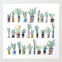 Art Print featuring Plants in pots by Diana Toledano