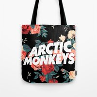 Arctic Monkeys & Flowers Tote Bag