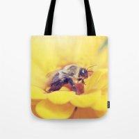Bee on Yellow Tote Bag