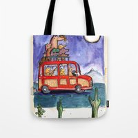 Dogs on Vacation: Tote Bag