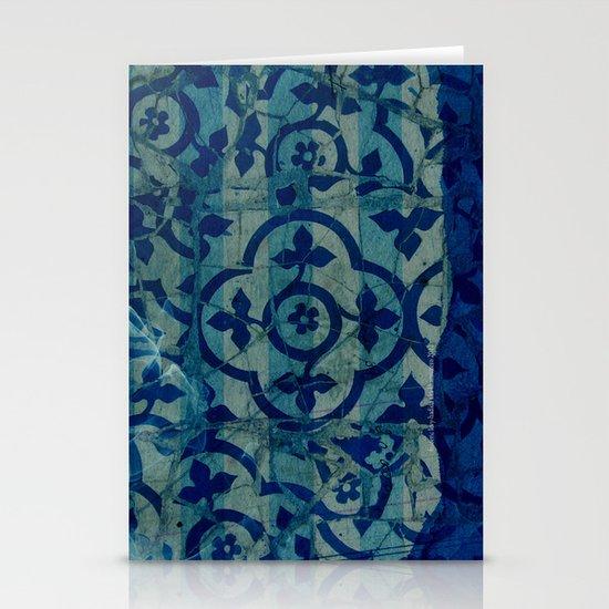 mosaic in cyan Stationery Card