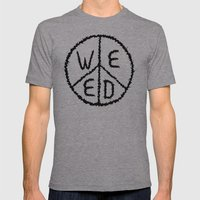 WEED-7 Mens Fitted Tee Athletic Grey SMALL