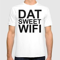 Dat Sweet Wifi Mens Fitted Tee White SMALL