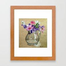 Metallic vase Framed Art Print