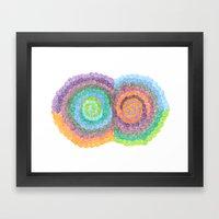 BI-COLOURED Framed Art Print