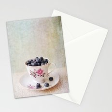 Scratched Blueberries Stationery Cards