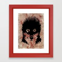Iron Wolf Framed Art Print