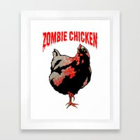 All Fear The Zombie Chic… Framed Art Print
