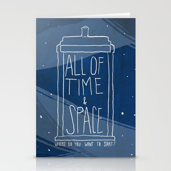 All Of Time And Space Stationery Card