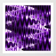 Warped Glass (lush Purpl… Art Print