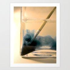 Paint Brush Wash Up Art Print