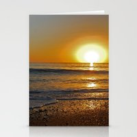 Ocean Sunset 4 Stationery Cards