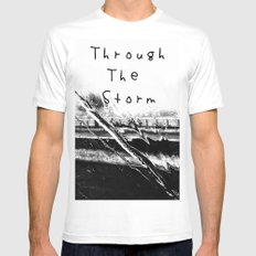 Though the storm SMALL Mens Fitted Tee White