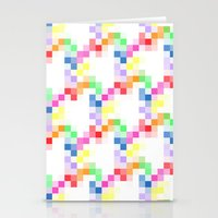 pixel Stationery Cards featuring Pixel by AJJ ▲ Angela Jane Johnston