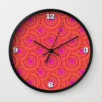 Tropical Parasols Pattern Wall Clock