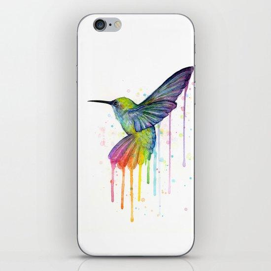 Hummingbird Watercolor iPhone & iPod Skin