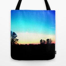 School Sunset Blue & Orange Tote Bag