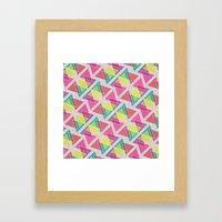 Let's Celebrate The Triangle Framed Art Print