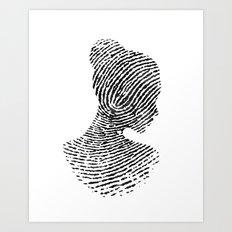 Fingerprint Silhouette P… Art Print