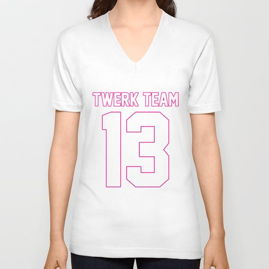 #TWERKTEAM13 V-neck T-shirt