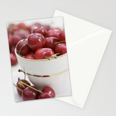 Cherries in a teacup Stationery Cards