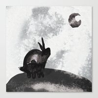 。Yearning for the Moon 。 Canvas Print