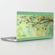 Branch With Flowers Laptop & iPad Skin