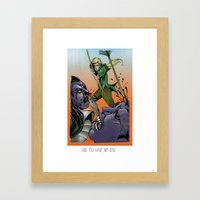 You have my bow Framed Art Print