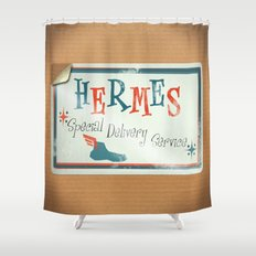Hermes Special Delivery Service Shower Curtain