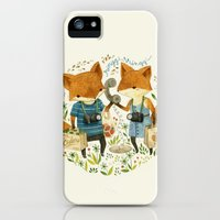 iPhone Cases featuring Fox Friends by Teagan White