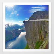 PULPIT ROCK - NORWAY Art Print