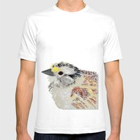 Rainbow Bird Mens Fitted Tee White SMALL