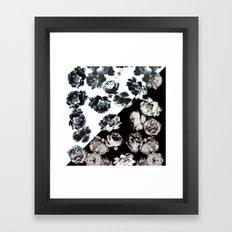 Black & White Floral Pat… Framed Art Print