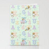 Teddy Bear Alphabet ABC's Green Stationery Cards