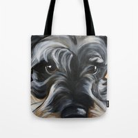 Peter The Schnauzer Tote Bag