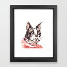 funny boston Framed Art Print