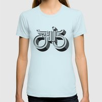 Hi 5 Womens Fitted Tee Light Blue SMALL
