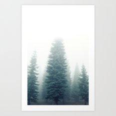 Fog Forest Art Print