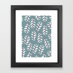 Simple leaf print Framed Art Print