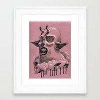 .Sheep.Neck. Framed Art Print